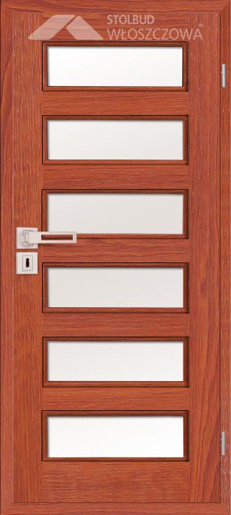 Drzwi wewnetrzne Modern C66 Fornir Stolbud Wloszczowa