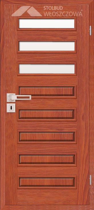 Drzwi wewnetrzne Modern D83 Fornir Stolbud Wloszczowa