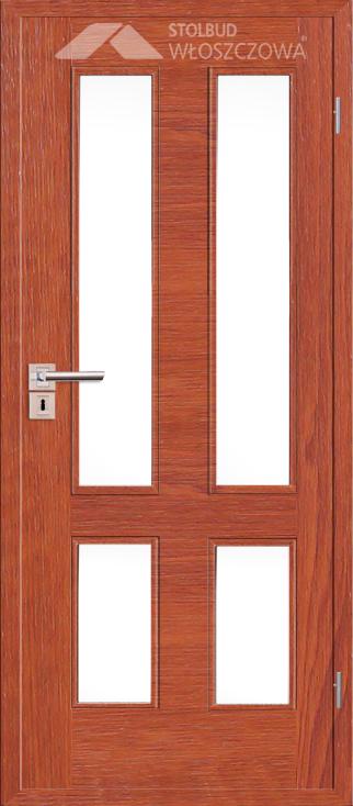 Drzwi wewnetrzne Simple B44 Fornir Plus Stolbud Wloszczowa